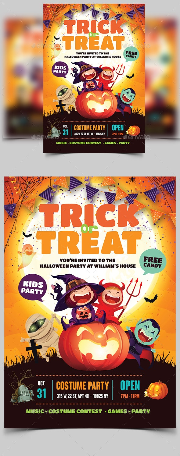 Halloween Kids Party Flyer - Events Flyers