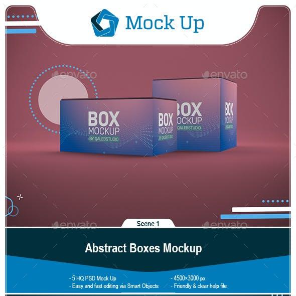Abstract Boxes Mockup