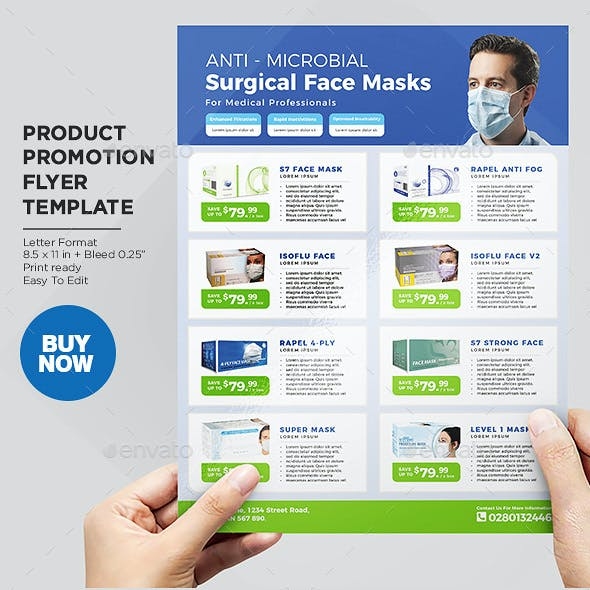 Product Flyer - Medical Disposable Face Masks / Surgical Masks