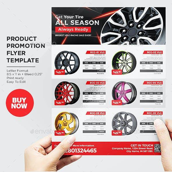 Car Wheel Product Flyer