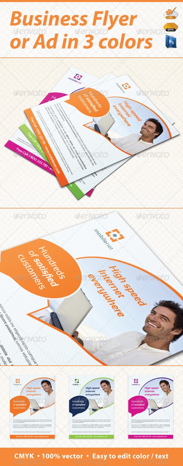 Mobile Net Minimal Business Flyer / Ad  - Corporate Flyers