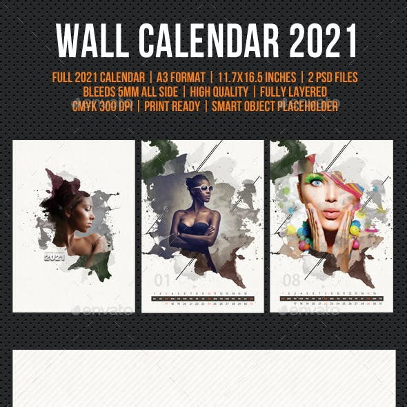 Creative Wall Calendar 2021 V20