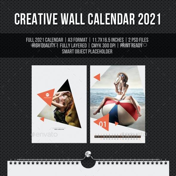 Creative Wall Calendar 2021 V19