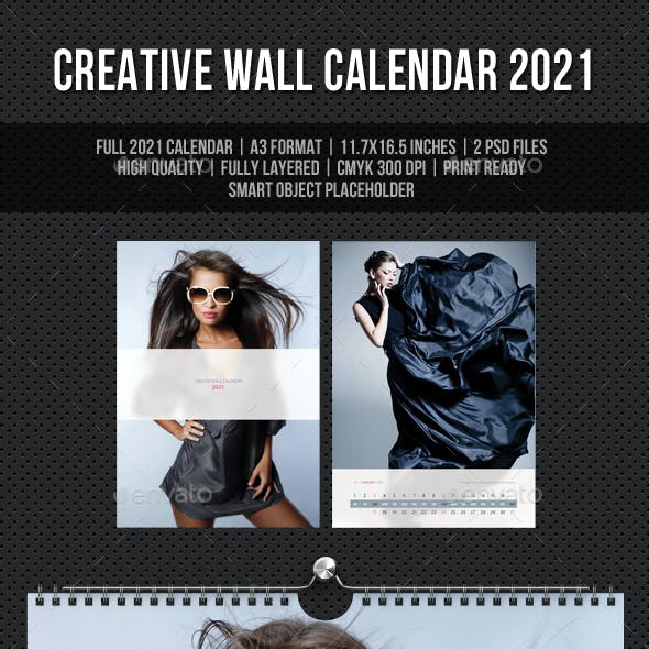 Creative Wall Calendar 2021 V16