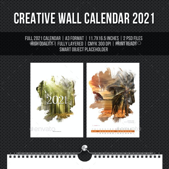 Creative Wall Calendar 2021 V15