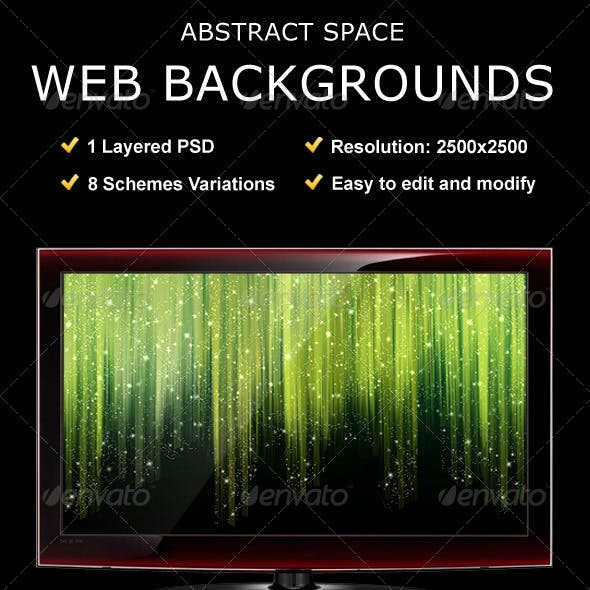 Abstract Space Web Backgrounds
