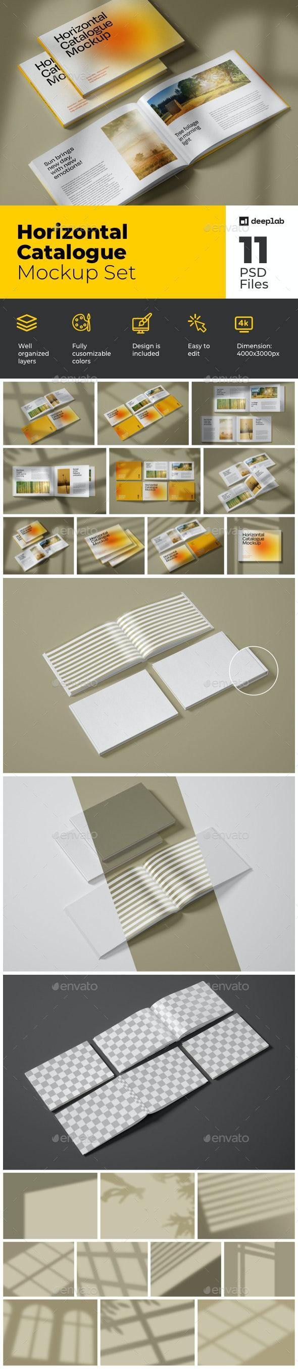 Horizontal Catalogue Mockup Set - Product Mock-Ups Graphics