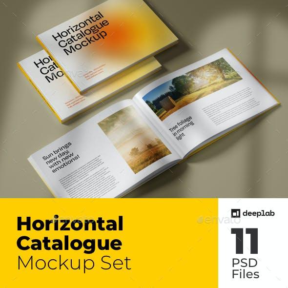 Horizontal Catalogue Mockup Set
