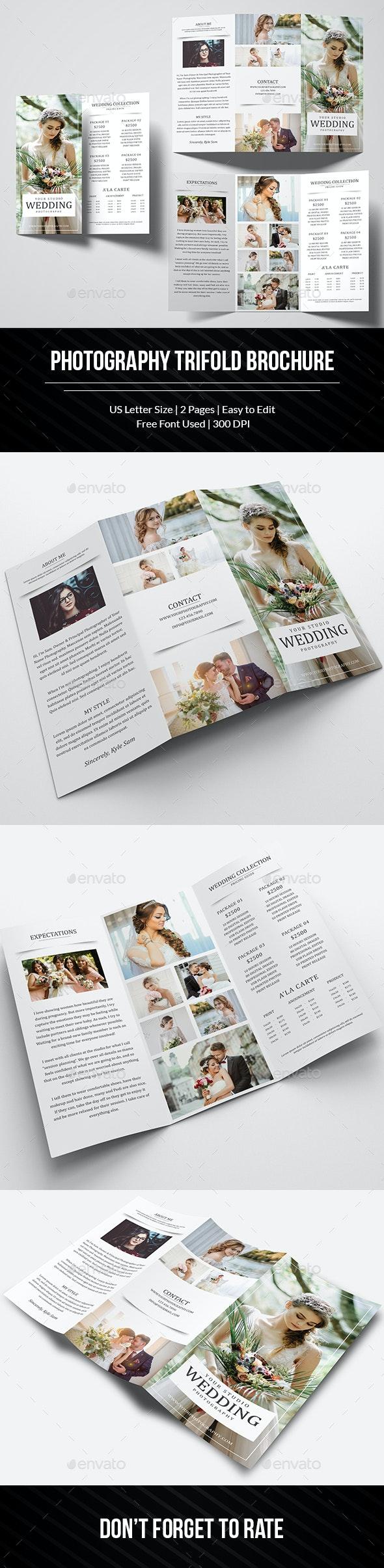 Wedding Photography Trifold Brochure - Brochures Print Templates