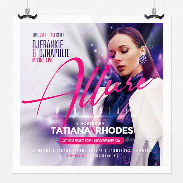 Allure Night Party Flyer