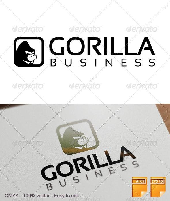 Gorilla Business Logo - Animals Logo Templates