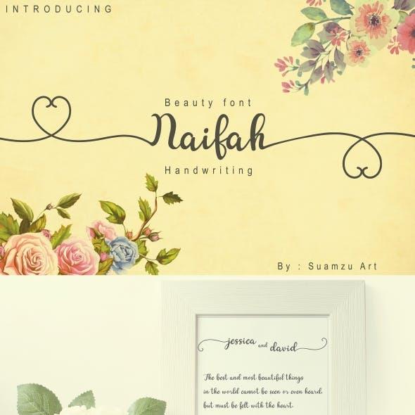 Naifah Handwriting