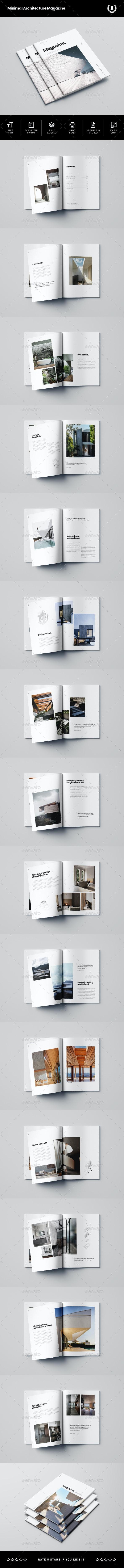Minimal Architecture Magazine - Magazines Print Templates