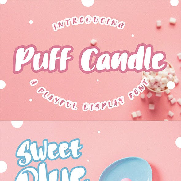 Puff Candle Playful Font