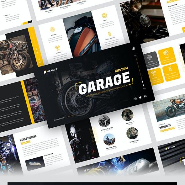 Kustom Garage - Motorcycle & Bike Powerpoint Template