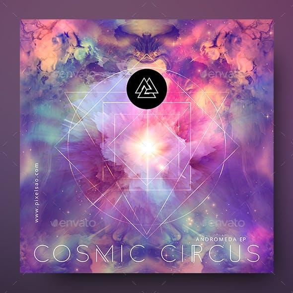 Cosmic Circus – Psytrance Album Cover Artwork Template