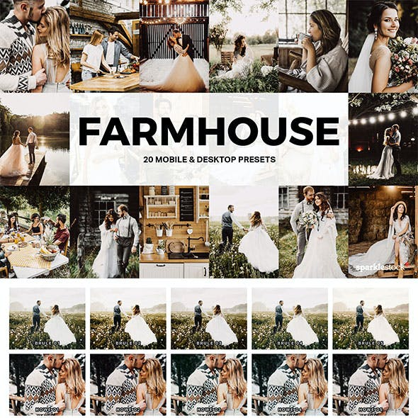 20 Farmhouse Lightroom Presets and LUTs