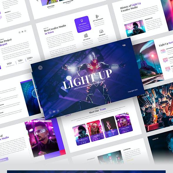 Light Up - Creative Business Powerpoint Template