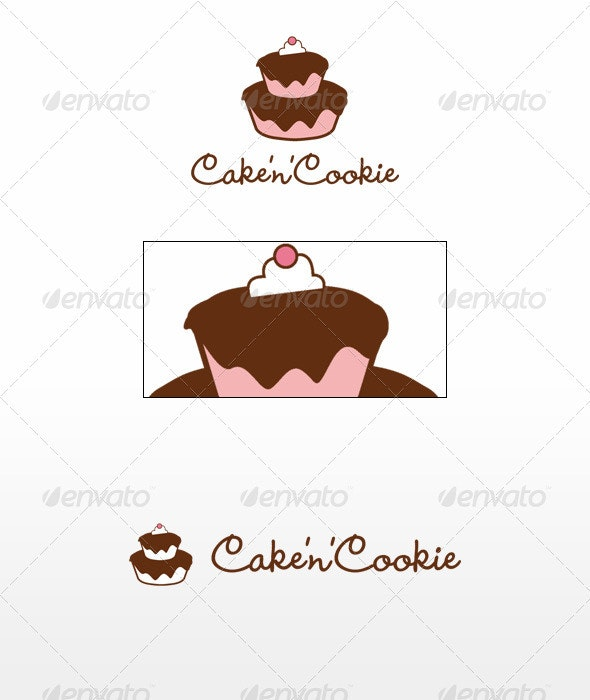 Cake'n'Cookie - Food Logo Templates