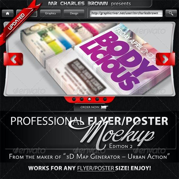 Professional Flyer & Poster Mockup Bundle 2