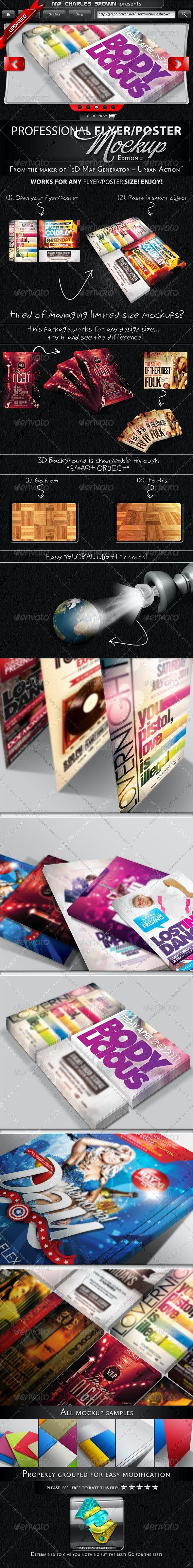Professional Flyer & Poster Mockup Bundle 2 - Flyers Print
