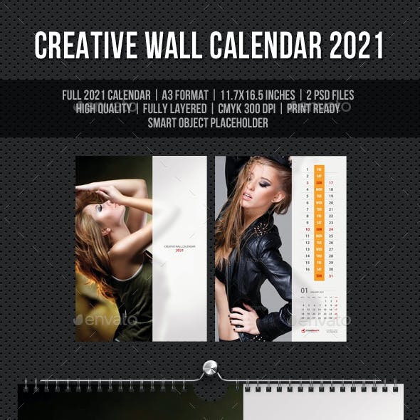 Creative Wall Calendar 2021 V12