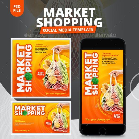 Market Shopping Social Media Template