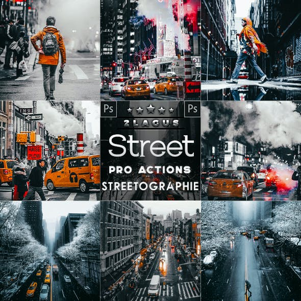 Streetography - city Photoshop Actions