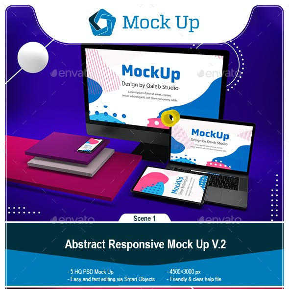 Abstract Responsive Mock Up V.2