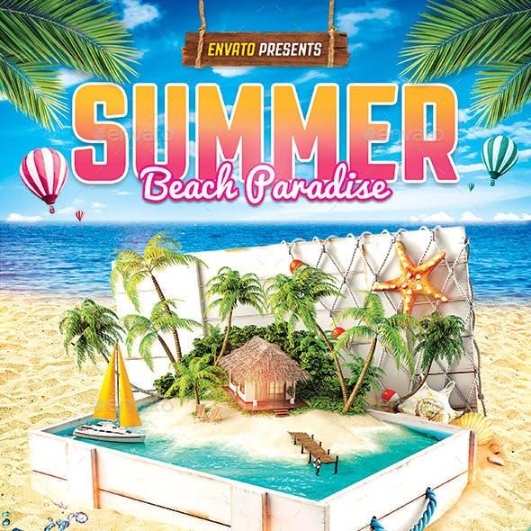 Tropical Summer Beach Flyer