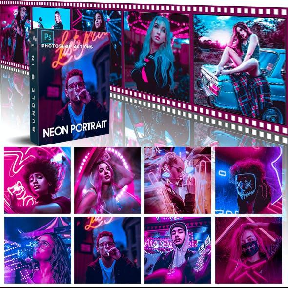 Bundle Cyberpunk - Neon Lights Photoshop Actions