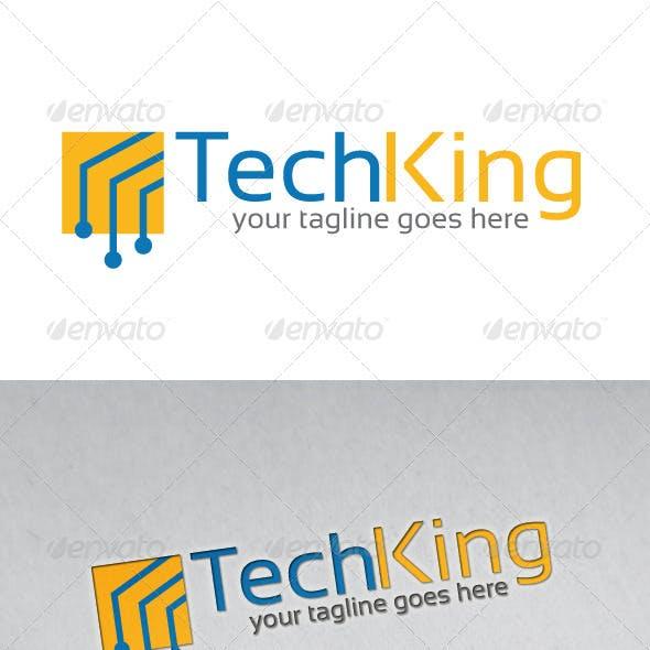 Tech King Logo Template
