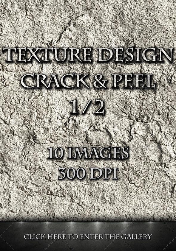 Texture Design - Crack & Peel 1/2 - Concrete Textures