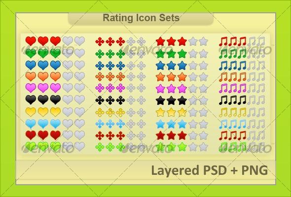 Web 2.0 Rating Icon Sets - Web Elements