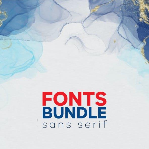 5 Sans Serif Font Bundle