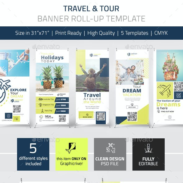 Travel Tour Banner Pack Vol.1