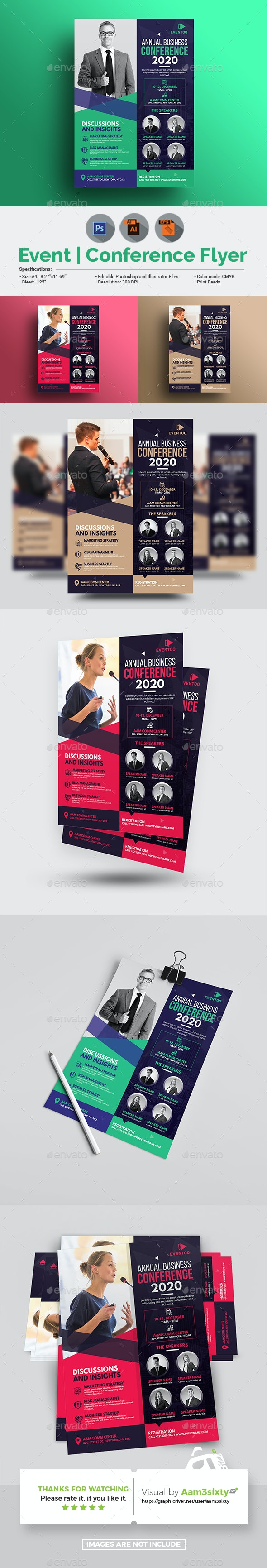 Business Conference Flyer Template - Events Flyers