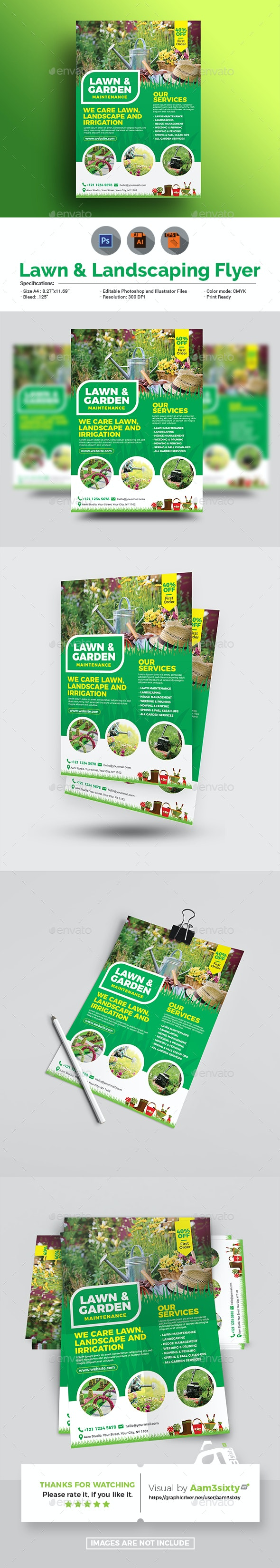 Lawn and Landscaping Flyer - Commerce Flyers