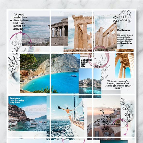 Instagram Puzzle Feed Travel Vlogger