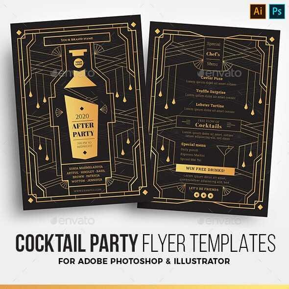 Art Deco Cocktail Bar Flyer
