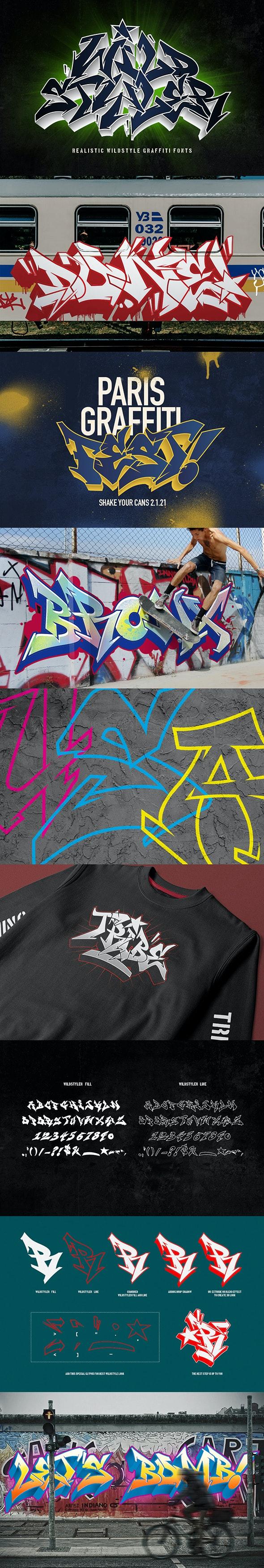 Graffiti fonts | Wildstyler