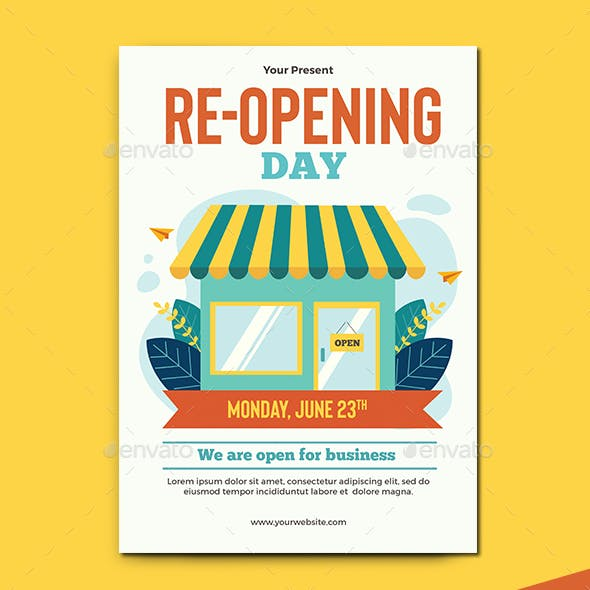 Re-opening Business Flyer Template