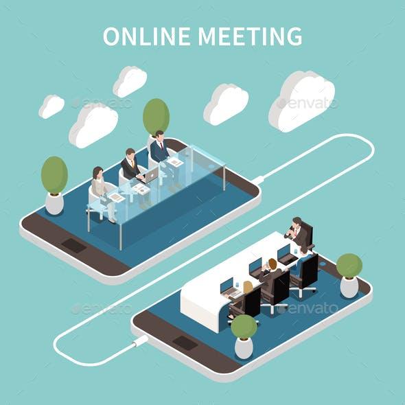 Meeting Room Online Isometric