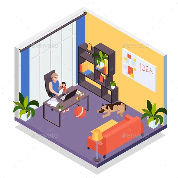 Distant  Work Isometric Composition