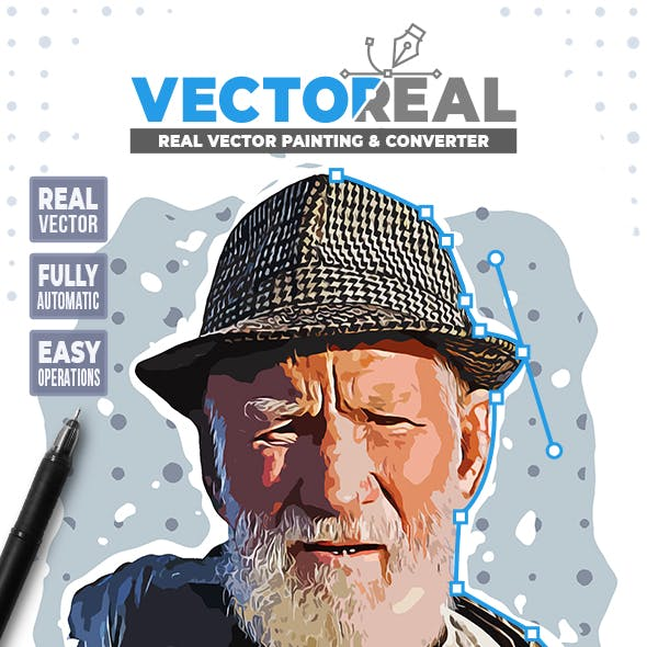 Vectoreal - Real Vector Painting & Converter Photoshop Plugin