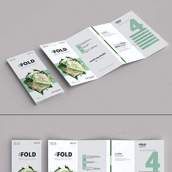 Four-Fold Brochure Mockups