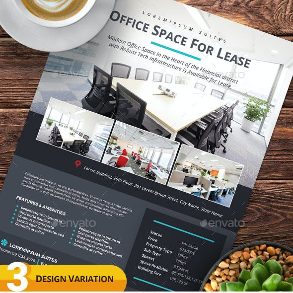 Space for Lease Flyer Templates