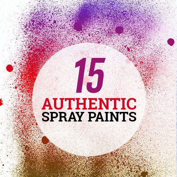 15 Spray Paint Photoshop Brushes