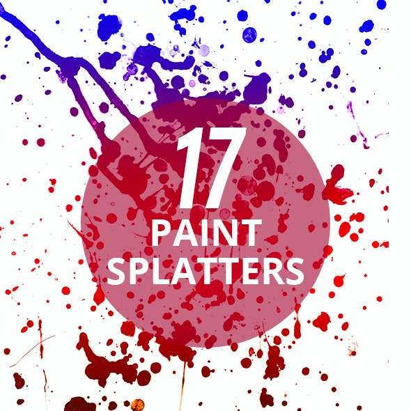 17 Authentic Paint Splatters Photoshop Brushes