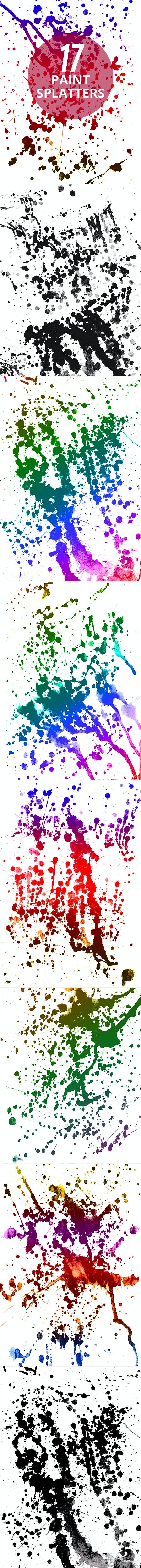 17 Authentic Paint Splatters Photoshop Brushes - Artistic Brushes